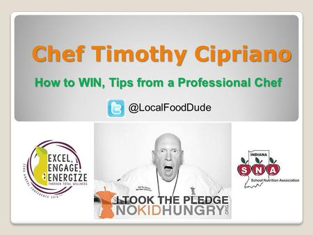 Chef Timothy Cipriano How to WIN, Tips from a Professional