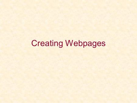 Creating Webpages. Today's Topics Embed video Embed music More text formatting Wordpress.