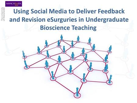 Using Social Media to Deliver Feedback and Revision eSurguries in Undergraduate Bioscience Teaching.