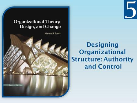 Designing Organizational Structure: Authority and Control.