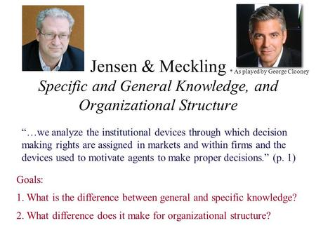 organizational design jensen This overview provides a high-level description of the it organizational design key initiative use this guide to understand what you need to do to prepare for this initiative.
