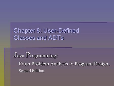 From to programming analysis edition design 5th problem java program pdf