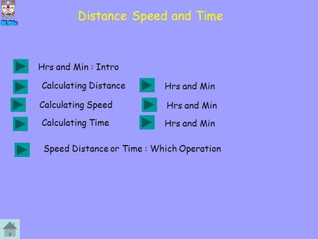 Distance Speed and Time Calculating Speed Hrs and Min Calculating Distance Speed Distance or Time : Which Operation Hrs and Min Calculating Time Hrs and.