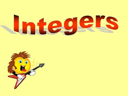 Integers Integers are positive (+) and negative(-) numbers. Negative Integers represent a loss or a decrease. (Ex. -5, -18, -345,...) Positive Integers.