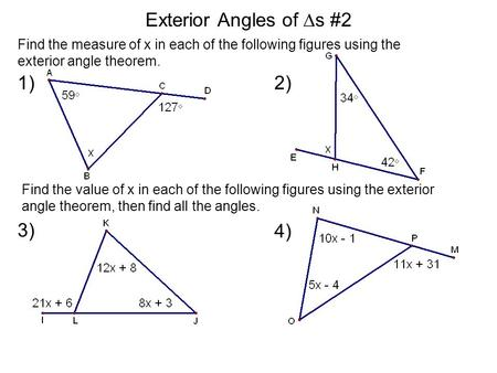 Mathematics a joy ride ppt video online download - Which of the following are exterior angles ...