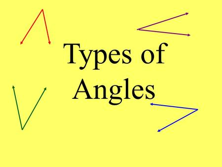Types of Angles. Lines a and b are parallel. They are cut by a transversal. This creates 8 different angles. Draw this picture on your paper. Be sure.