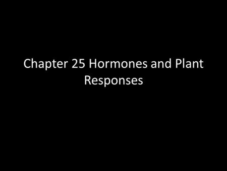Chapter 25 Hormones and Plant Responses. Plant Growth Unlike animals, plant have no true pattern of growth - no pre-determined number of branches and.