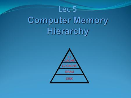 Introduction: Memory Management 2 Ideally programmers want memory that is large fast non volatile Memory hierarchy small amount of fast, expensive memory.