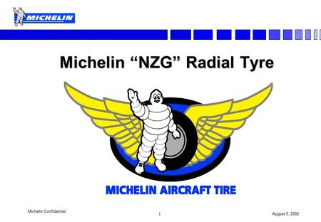 "1 August 5, 2002 Michelin Confidential Michelin ""NZG"" Radial Tyre."