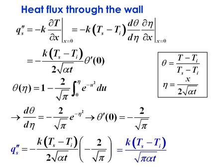 Heat flux through the wall