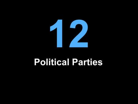 12 Political Parties. What Are Parties? Parties are organized groups that attempt to influence government by electing its members to office The Constitutional.