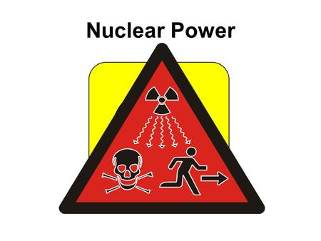 Nuclear Power. An energy future based on fossil fuels is not sustainable......nuclear power does not contribute to climate change – AND there is enough.
