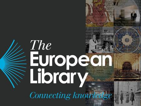 The European Library: future role and services to the research library community www.theeuropeanlibrary.org Louise Edwards.