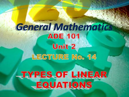 Understand linear equations and its types. Form the linear equations involving slopes of different situations. Students and Teachers will be able to.