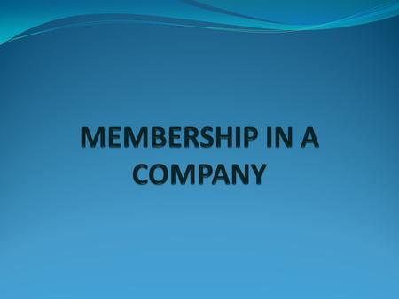 Definition of a Member — Section 2(55) (i) The subscribers of the Memorandum of a company shall be deemed to have agreed to become members of the company,