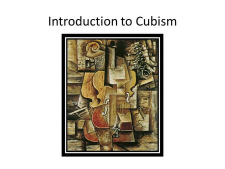 Introduction to Cubism. Realism vs Abstract Realistic Art is an accurate representation of a subject. It may resemble a photograph.