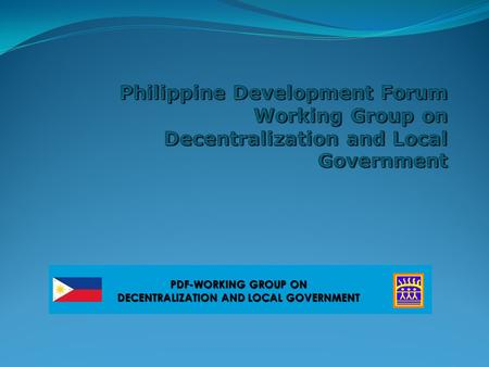 PDF-WORKING GROUP ON DECENTRALIZATION AND LOCAL GOVERNMENT.