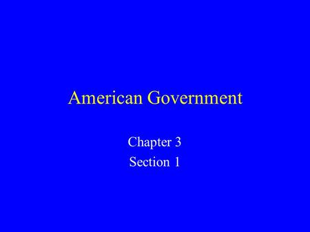 American Government Chapter 3 Section 1. Six Principles of the Constitution Popular Sovereignty Limited Government Separation of Powers Checks and Balances.