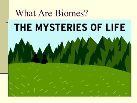 What Are Biomes?.