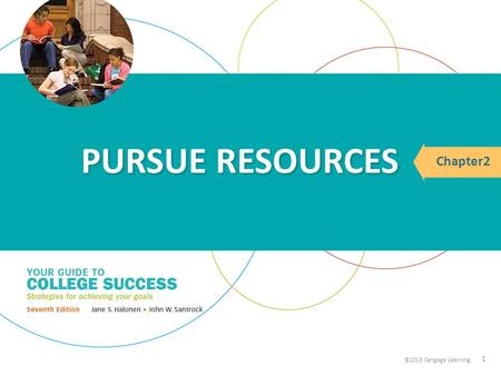©2013 Cengage Learning. Chapter2 ©2013 Cengage Learning. PURSUE RESOURCES 1.