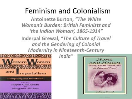 Feminism and Colonialism