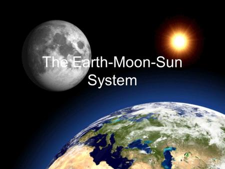 The Earth-Moon-Sun System. Motions of the Earth 1.Rotation 2.Revolution 3.Precession.
