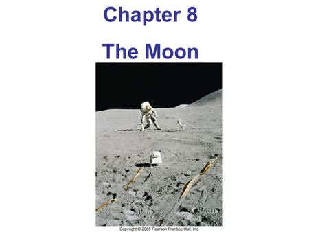 Chapter 8 The Moon. Orbital Properties Distance between Earth and Moon has been measured to accuracy of a 3 cm using lasers Distance of the moon from.