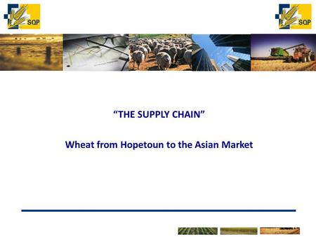 "The marketer of choice for Victorian Grain Producers ""THE SUPPLY CHAIN"" Wheat from Hopetoun to the Asian Market."
