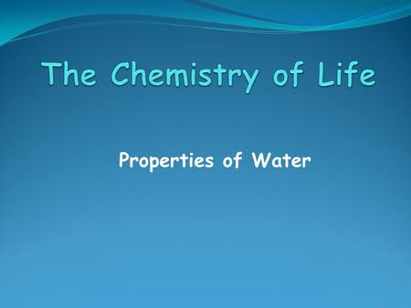 Properties of Water. A compound is a pure substance made up of atoms of two or more elements The proportion of atoms are always fixed Chemical formula.