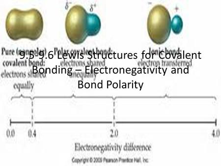 9.5-9.6 Lewis Structures for Covalent Bonding – Electronegativity and Bond Polarity.