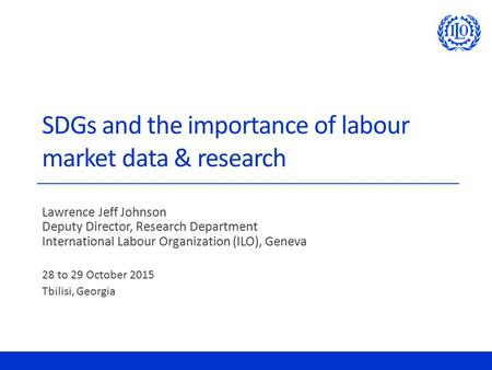 SDGs and the importance of labour market data & research