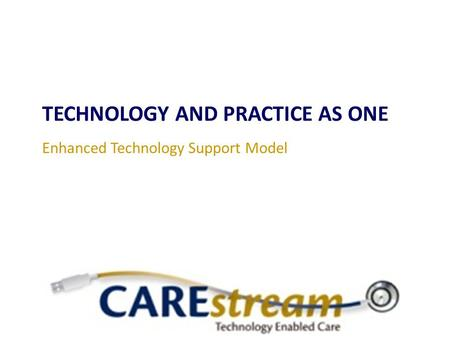 TECHNOLOGY AND PRACTICE AS ONE Enhanced Technology Support Model.