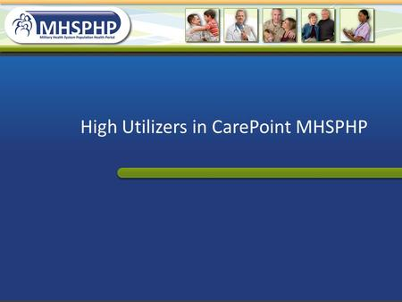 High Utilizers in CarePoint MHSPHP. Make a simple list of High Utilizers Open Quicklook Prevalence report Type 1 in white rectangle under HU Visits header.