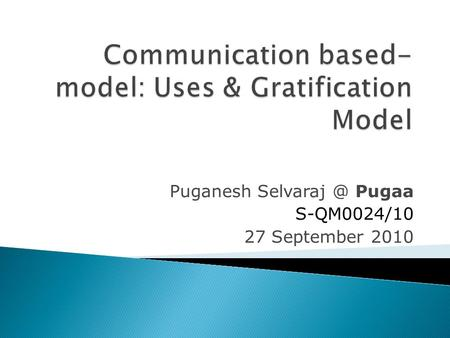 Puganesh Pugaa S-QM0024/10 27 September 2010.