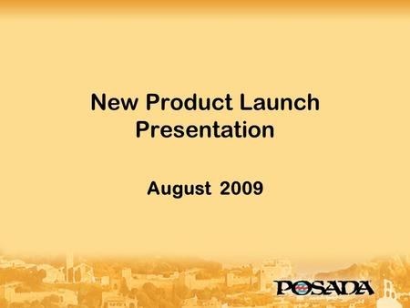 New Product Launch Presentation