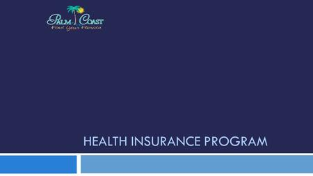 HEALTH INSURANCE PROGRAM. Health Insurance Program Overview  Self-Insured (claims processed by Third-Party Administrator, currently BCBS)  Separately.