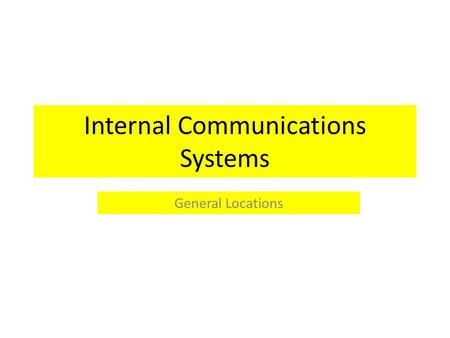 Internal Communications Systems