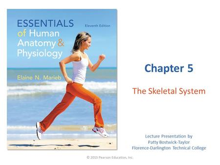 Lecture Presentation by Patty Bostwick-Taylor Florence-Darlington Technical College Chapter 5 The Skeletal System © 2015 Pearson Education, Inc.
