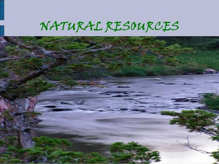 NATURAL RESOURCES. What are our two sources of fresh, drinkable water? RESERVOIRS (which are lakes that hold fresh water, like Hemlock and Canadice Lakes)