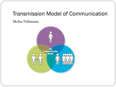 Transmission Model of Communication Melisa Nahimana.