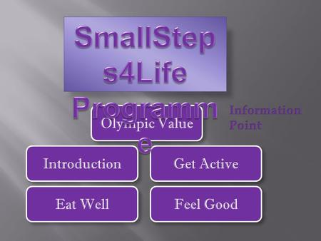 Introduction Olympic Value Eat Well Get Active Feel Good.