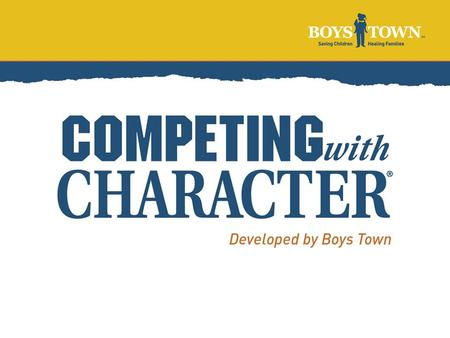"What is it? Competing With Character is a youth sports enhancement program It revolves around a series of ""skills"" for players, coaches and parents Sports."
