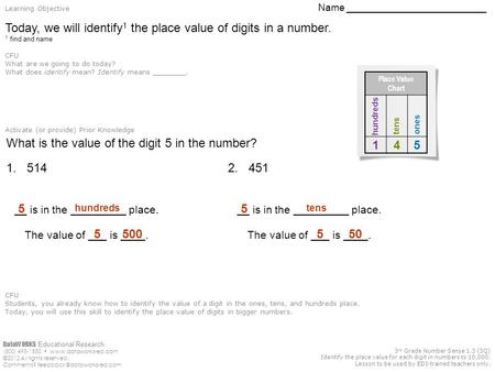 DataWORKS Educational Research (800) 495-1550  ©2012 All rights reserved. Comments? 3 rd Grade Number Sense.