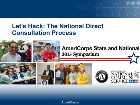 Let's Hack: The National Direct Consultation Process.