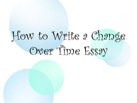 Do essay on time