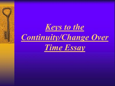 Change in time essay