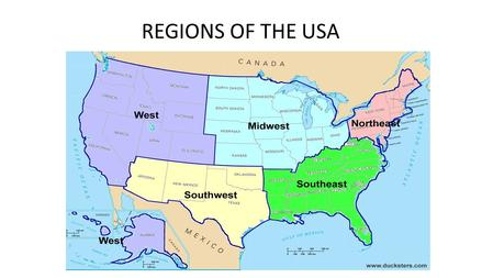 REGIONS OF THE USA. THE WEST & Southwest Geography September 30 & October 1, 2015.