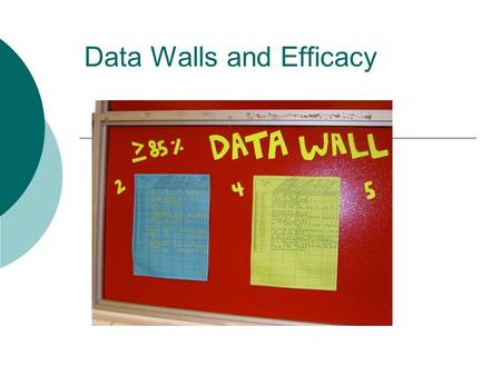 Data Walls and Efficacy. Pierce Lamberson  This is my second year at West Jefferson  I teach Algebra I in the 9 th grade academy  I'm not an education.