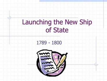 Launching the New Ship of State 1789 - 1800. America Population – doubling every 25 years 90% rural 5% of people lived west of the Appalachian Mountains.