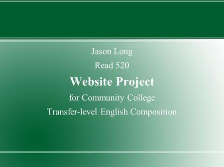 Transfer-level English Composition